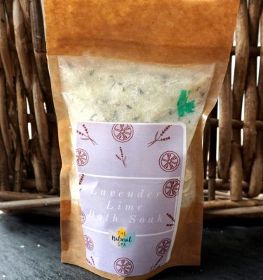 Natural Spa Lavender and Lime Bath Soak - Compostable pouch @ beyoutifi 1