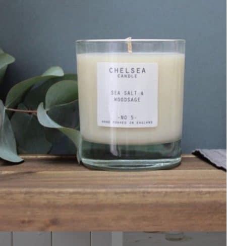 Large Sea Salt & Wood Sage Candle by Chelsea Candle@ beyoutifi 2